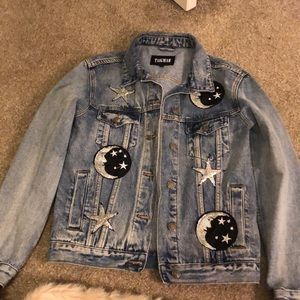 LF Taigwah Denim Jacket w/ Sequin Moons and Stars